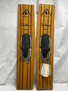 Vintage Northland Chuck Stearns Trixter Trick Wood Water Skis 44andrdquo X 10andrdquo