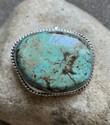 Vintage Sterling Silver Turquoise Pin Pendant.