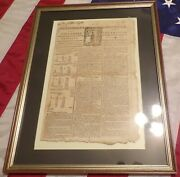 Colonial 1777 Massachusetts Independent Chronicle Newspaper Signed Dr. Tufts