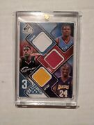 2009 Sp Game Used Kobe Bryant Lebron James Kevin Durant Star Swatch Jersey 49/50