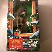 Mr Christmas Mickey Mouse Tree Top Animated Lighted Tree Topper 1994