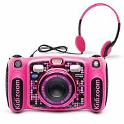 Vtech Kidizoom Duo 5.0 Deluxe Digital Selfie Camera With Mp3 Player And Headphon