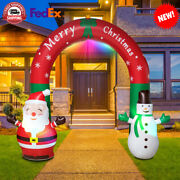 Christmas Inflatable Santa Snowman Decorations Arch Thicken Led Lights Outdoor C