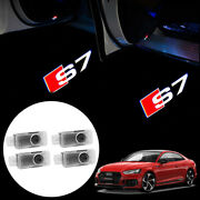 For Audi Led S7 Logo Car Door Courtesy Ghost Shadow Laser Projector Light 4pcs