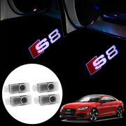 For Audi Led S8 Logo Car Door Courtesy Ghost Shadow Laser Projector Light 4pcs