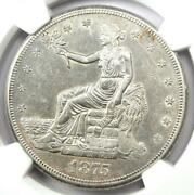 1875-s Trade Silver Dollar T1 - Certified Ngc Au Details - Rare Coin