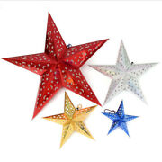 Metallic Holographic Gold Pop Out Laser Hanging Christmas Star