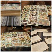 Victorian Era 1800-1900 56× Stereoview Antique Picture Cards Huge Lot