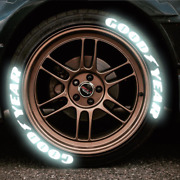 Goodyear Tire Letter Reflective Sticker 1.38and039and039 For 15and039and039-22and039and039 Wheels Decal Glow