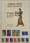 Early Israel Stamp Collection New Year, Souvenir Etc. On Album Page, Both Sides