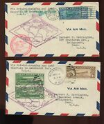 C13-c15 Graf Zeppelins On 2 Matched Round Trip First Day Covers 4/19/30 Cv 125