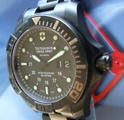 Ultra Rare Swiss Army Dive Master 500 Auto Black Titanium Limited Ed 1 From 900