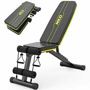 Hitosport Weight Bench Adjustable Weight Bench Strength Training Benches For ...