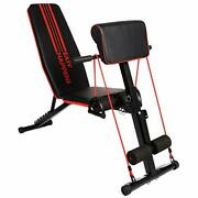 Foldable Adjustable Weight Bench - Utility Weight Benches For Full Body Worko...