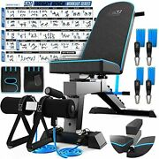 Adjustable Weight Bench Workout Bench Press - Strength Training Benches - Fol...