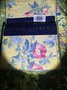 Vintage Parsonage Flora Twin Ruffled Flat Sheets 100 Combed Cotton