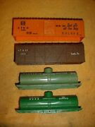 Marx O27 Trains Plastic Rolling Stock Shell Lot As Pictured Green Brown Orange 1