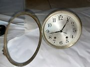 Antique Round Mantel Clock Movement With Dial By Seth Thomas