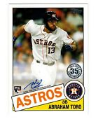 Abraham Toro Rc 2020 Topps Series One 1985 85a-at 1st Rc Auto Seattle Mariners