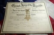 Original Grand Army Of The Republic Transfer Card General Welsh Post 118 8x11