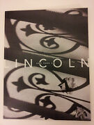 2001 Lincoln Town Car Brochure - 32 Over-sized Pages Long - Must See