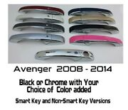 Black Or Chrome Door Handle Covers 2008-2014 Dodge Avenger You Pick The Color
