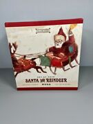 🎄williams And Sonoma set Of 4 santa And His Reindeer Mugs