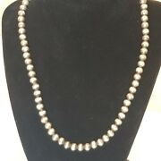 Vintage Sterling Silver 925 Round Beaded Necklace