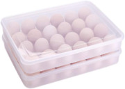 2x Plastic Egg Holder Deviled Egg Storage Container 24 Deviled Egg Tray With Lid