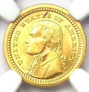 1903 Jefferson Commemorative Gold Dollar Coin G1 - Certified Ngc Ms64 Bu Unc