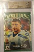 2016 Optic Russell Wilson Bgs 10 Gold Vinyl Legends Of The Fall 1 Of 1