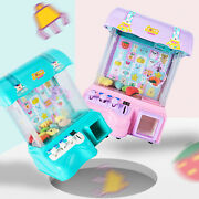 Kids Electronic Claw Toy Grabber Machine Home Arcade W/ Dolls And Coins