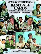 Stars Of 1950s Baseball Cards 48 Full-color Reproductions By Carol Belanger