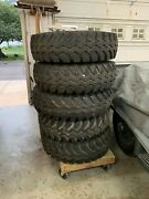 Land Rover Series Ii Wheels And Tyres….. Used, 5 Sets And One New Rim.