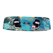 Used Crazyfly Cruiser Light Wind Kiteboard Kite Board With North Pads And Straps