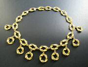 Vintage Style Gold Tone 16 Necklace Choker Dangling Charms D12