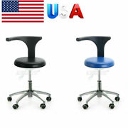 Dental Dentist Stool Adjustable Height Mobile Hydraulic Rolling Chair Pu 2colors