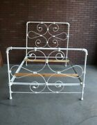 Cast Iron Full Bed Frame Country Cottage Bed Antique Double Iron Bed