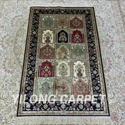 2.5and039x4and039 Handmade Silk Carpet Antistatic Kid Friendly Classic Area Rug H164b