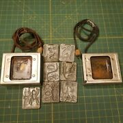 2 Vintage 1964 Mattel Thingmaker Oven ..and 7 Molds