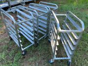 Set Of 4 Rolling 27.5 X 15 Commercial 6-tier Stainless Steel Rack Bakery Carts