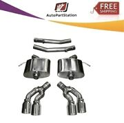 14358 Corsa 304 Ss Axle-back Exhaust System Quad Rear For Cadillac Cts 16-19