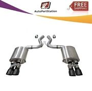 21002blk Corsa 304ss Valved Axle-back Exhaust System Quad Rear For Mustang 18-19