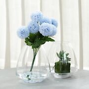 6 Pcs 8 Tall Clear Glass Teardrop Vases Wedding Party Centerpieces Decorations