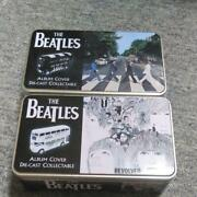 Beatles Tin Canned London Bus Set Of 2