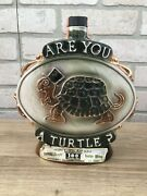 Vintage 1975 Jim Beam Are You A Turtle How Sweet It Is Decanter-empty