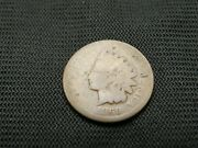 1869 Indian Cent Key Date Lower Grade Old Us Coin