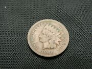 1867 Indian Cent Key Date Old Us Coin