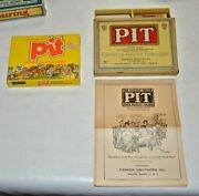 Antique 1919 Pit Card Game By Parker Brothers Original Box W/ Vintage Game Too