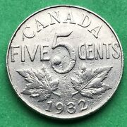 Lot I254 Canada 1932 5 Cents Nickel King George V Canadian Coin